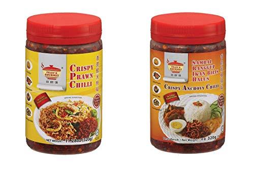 Combo Pack: 1 Each Tean Gourmet Crispy Prawn Chili Tean Gourmet Crispy Anchovy Chili - 11.28oz