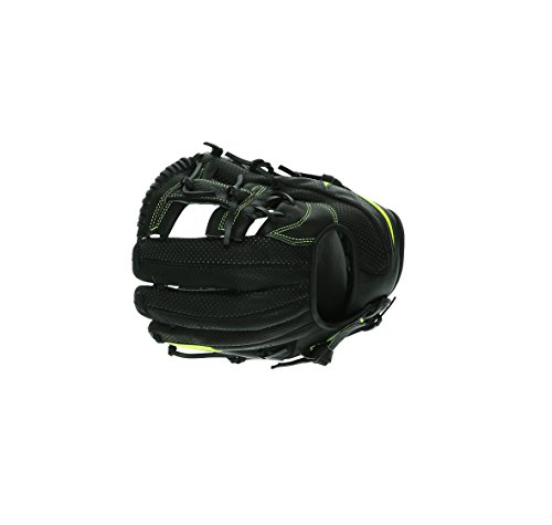 """NIKE MVP Youth Edge Baseball Glove 11.50"""" BF1722-010 Black/Volt Leather"""