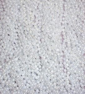 72 White Pearl Mardi Gras Gra Beads Necklaces Party Favors 6 Dozen Lot (Pearl Beads Bulk)