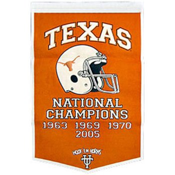 NCAA Texas Longhorns Burnt Orange Large-sized Wool Dynasty Banner (Orange Wool Large Sized)