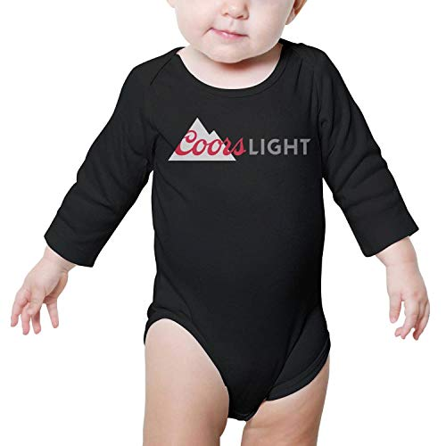 Long Sleeve Newborn Baby Girl Clothes Coors_Light_Logo- Novelty Onesie (Case Light Coors)