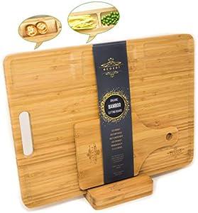 Amazon Giveaway Ecozoi Premium Organic Bamboo Cutting Board Set 3