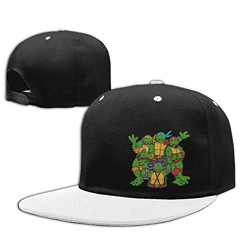 Shenigon Ninja Turtle Flat Visor Baseball Cap, Designed