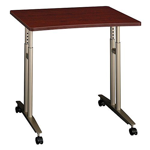 Bush Business Furniture Series C Collection 36W Adjustable Height Mobile Table in Mahogany -