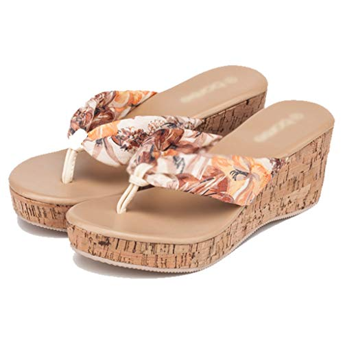 Dimensioni colore Aminshap Spessore Sandali Spiaggia 39eu Muffin Donna Antiscivolo Giallo Da Infradito Scarpe Giallo Principessa Estate Pantofole Slip gdqwSOZq