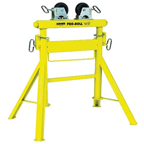 (Sumner Manufacturing Company Pro Roll Pipe Stand, 29 in - 43 in X 31 in X 23 in, 1/2 in - 36 in Pipe Capacity, 2000 lb Load Capacity )