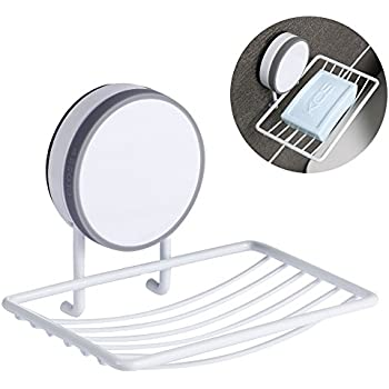 CAVN Super Power Vacuum Soap Dish Suction Cup, Adhesive And Reusable  Waterproof Soap Dish Holder
