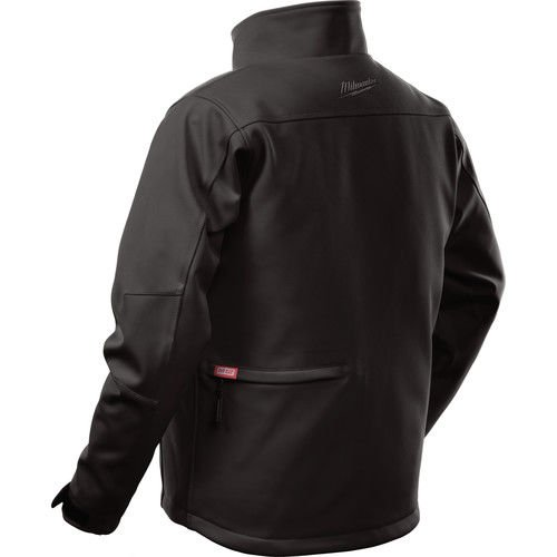 Milwaukee Jacket M12 12V Lithium-Ion Heated Front and Back Heat Zones All Sizes and Colors - Battery Not Included - (Large, Black)