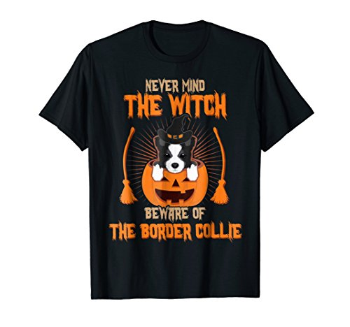 Never Mind The Witch Beware Of The Border Collie Dog (Halloween Costumes For Border Collies)