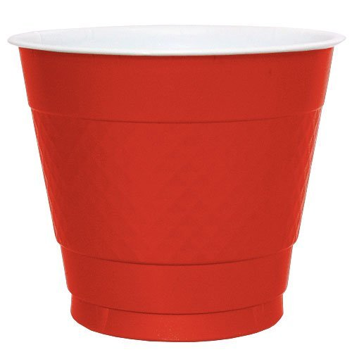 Hanna K. Signature Collection Plastic Cup, 50 Cups, 9-Ounce, Red