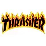 Thrasher Magazine Noir Flamme Skateboard Autocollant 15cm de large Environ–Planche de skate SK8NEUF Skating