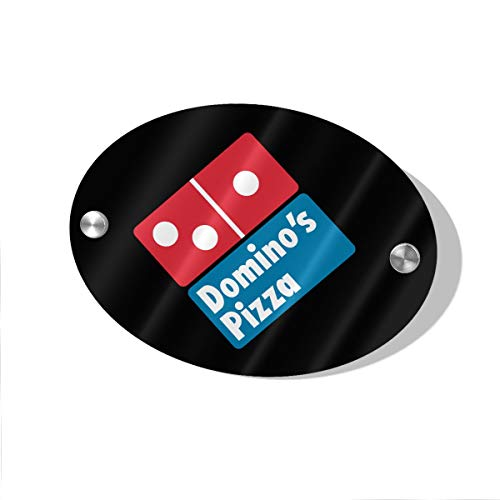 Layapan Door Sign Domino's Pizza Wall Decorative Signs Plaques for Offices Hotels Stores Home Decor (Dominos Best Pizza Name)