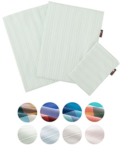 EMOOR Chemical-free Anti-mite Striped 3-piece cover set