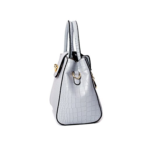 Miyoopark - Bolso estilo cartera de Material Sintético para mujer gris