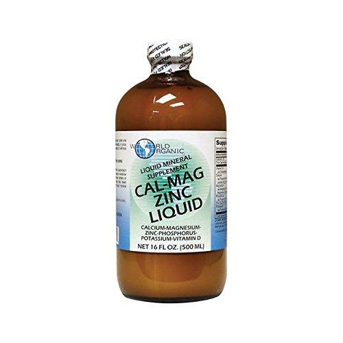 Amazon.com: World Organic Cal-Mag Zinc Liquid Supplement -- 16 fl oz: Health & Personal Care
