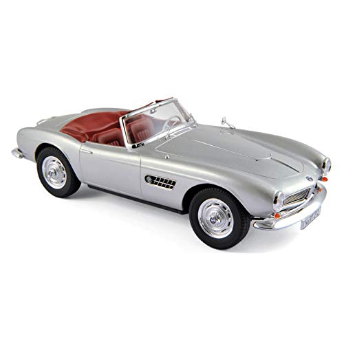 1956 BMW 507 Silver Metallic with Red Interior 1/18 Diecast Model Car by Norev 183230