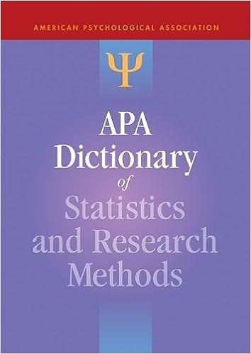 amazon com apa dictionary of statistics and research methods apa
