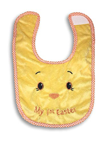 Plum Nellie's Treasures Baby First Easter - Bunny Ears Hat, Chick Hat & Chick Bibs (Boy & Girl) Easter Beanie or Bib for Baby (Chick Bib)
