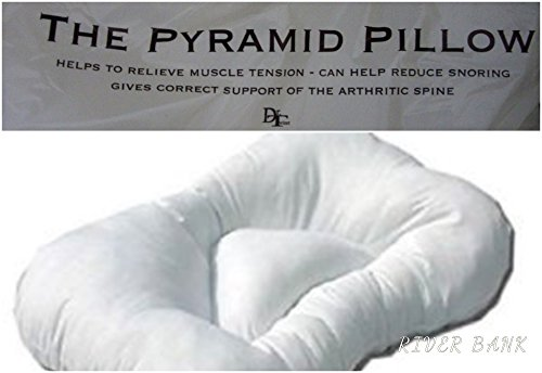 Pack Of 2 Anti Snore Pyramid Pillow Orthopaedic Support Pillow Non...