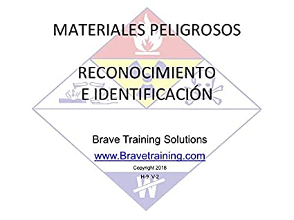 Amazon.com: SPANISH HAZMAT TECHNICIAN RECOGNITION & IDENTIFICATION PPT TRAINING PRESENTATION HAZARDOUS MATERIAL