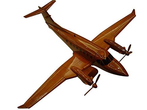 (Beechcraft King Air 350 Mahogany wood Airplane desktop model )