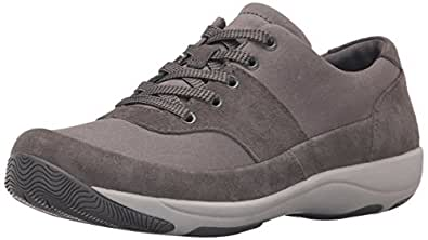 Dansko Women's Hayden Fashion Sneaker, Charcoal Suede, 36 EU/5.5-6 M US