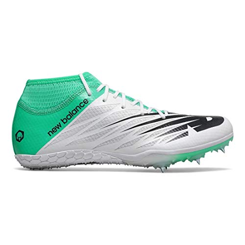 Womens Spikes Sprint - New Balance Women's 100v2 Vazee Track Shoe White/neon Emerald 7 B US