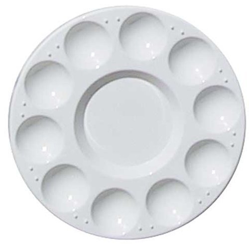 Leegoal Round Professional Strong&Light Plastic Paint Platte Tray,White ()