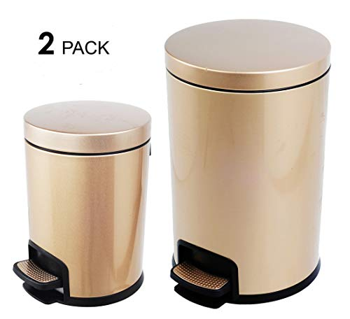 rious Stainless Steel Trash Can Garbage Bin Waste Receptacle (5L+20L) ()