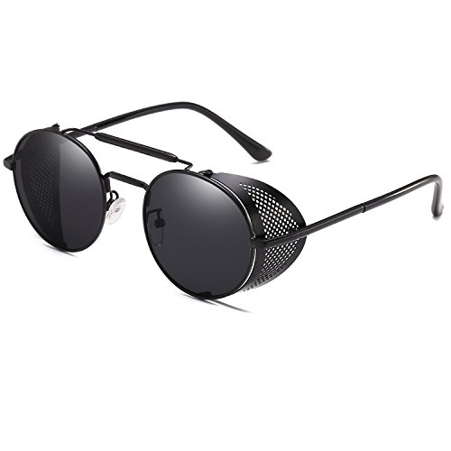 Wind Design Punk Sunglasses Retro Classic Vintage Fashion Black A Sun Glasses Unique Steam g8xqSIRRn