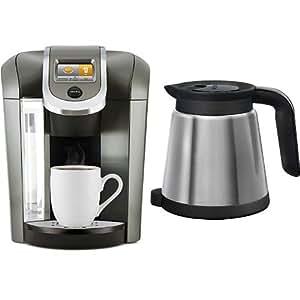 Amazon.com: Keurig K575 Coffee Maker, Platinum and Keurig 119352 2.0 Thermal Carafe, Silver ...