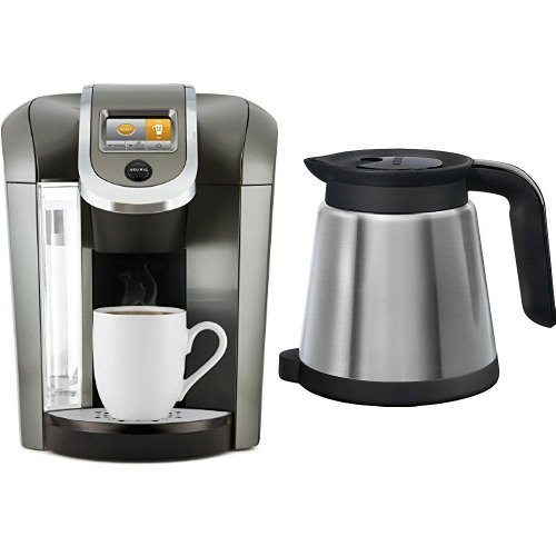 Keurig K575 Coffee Maker, Platinum and Keurig 119352 2.0 Thermal Carafe, Silver (Updated Model) Bundle