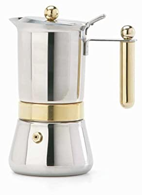 Vev-vigano Vespress Oro 6-espresso Cup Stainless Steel Stovetop Espresso Maker from M&T Distributors