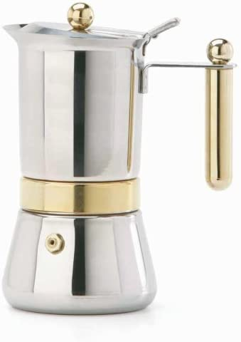 Vev Vigano 8160 Vespress Gold 12 to 14 cup espresso pot by Vespress: Amazon.es: Hogar