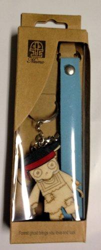 Mumu Wood Hand Made Poor BOY Skeleton Dude Scholar Logo Symbols – Luggage Tag Key Chain Keychain