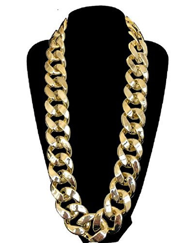 JIL Hip Hop Big Chunky Chain Necklace (Chain Mens Gold Jewelry)