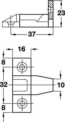 Gedotec Einh/ängebeschlag Keku EH Platten- und Rahmenteil 4 Set Kunststoff schwarz M/öbelverbinder f/ür h/äufig auszuh/ängende Paneele Einh/änge-Verbinder zum Schrauben