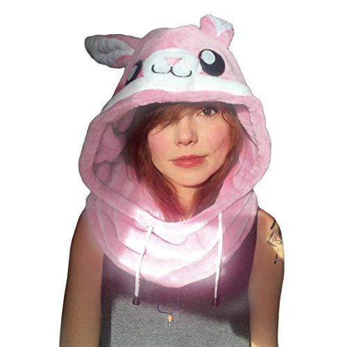 Animal Hood Onesie Hat - Costume, Cosplay, Adults - Kids, Festival, Bunny Rabbit -