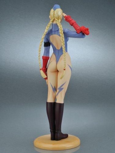 419OKHT9G8L Capcom Girls Collection Street Fighter III Original Cammy Blue Uniform PVC Figure By Yamato