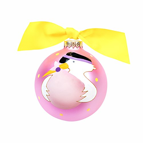 First Christmas Stork Ornament - Baby's First Christmas Stork Ornament {Girl}