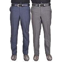 AD & AV Mens Trouser Pack of 2 Combo_GD_Blue_Grey_II