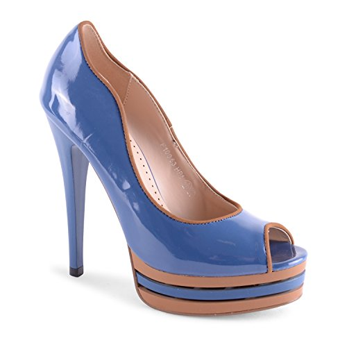 Footwear Sensation - punta abierta de sintético mujer azul - Teal Blue