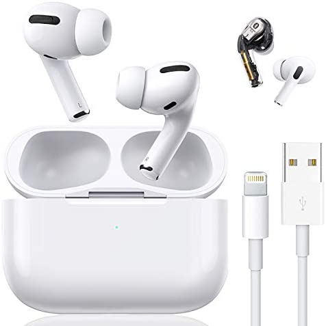 Bluetooth 5.0 Wireless Earbuds with [ 24Hrs Charging Case ] Waterproof 3D Stereo Headphones in-Ear Built-in Mic Headset Premium Sound with Deep Bass Headphone for iPhone/Airpods/Airpod pro/Android