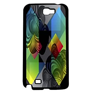 Colorful Abstract Color Block Art Hard Snap on Phone Case (Note 2 II) by supermalls