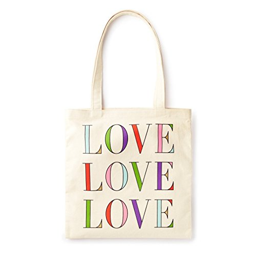 Kate Spade New York Canvas Book Tote (Love Love Love)