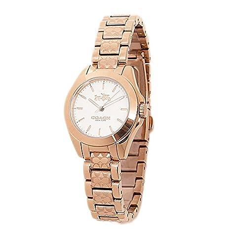 Coach Watches Coach Women's Tristen Watch (White) (Coach Women Gold Watch)