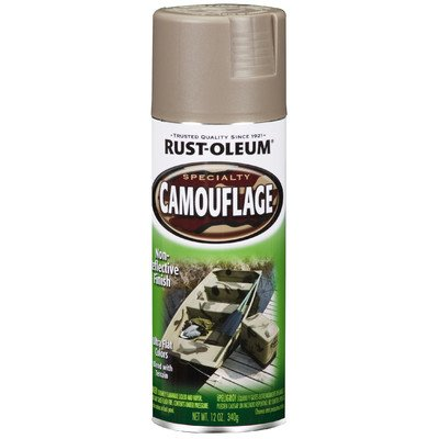 12 Oz Khaki Camouflage Spray Paint [Set of 6]