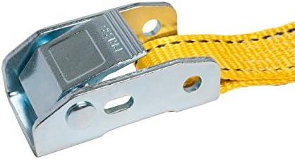 25mm幅 カムバックルベルト エンドレス 4.0m 黄 10本セット