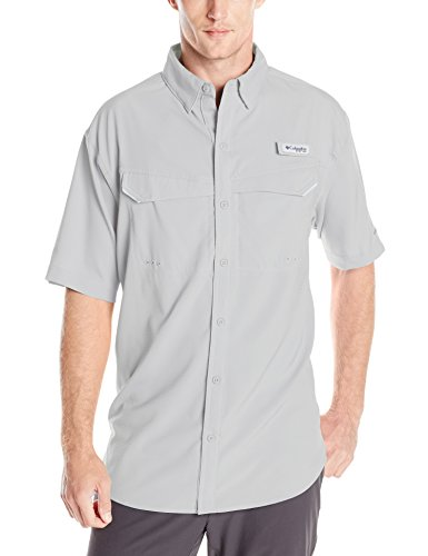 Columbia Men's Low Drag Offshore Short Sleeve Shirt, UPF 40 Protection, Moisture Wicking Fabric T-Shirt,Cool Grey,X-Large