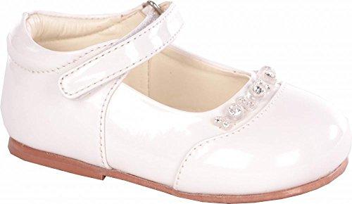 Bébés filles Blanc Diamond brevet Chaussures Taille bébé 1 à 10 infantile